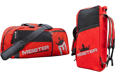 9ac300cfabc0 MEISTER CONVERTIBLE BACKPACK   GYM BAG - RED Sports MMA Duffle Large  Carry-All