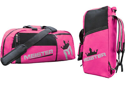 MEISTER CONVERTIBLE BACKPACK   GYM BAG - PINK Sports MMA Duffle Womens  Carry-All 3dacb69f85eaa