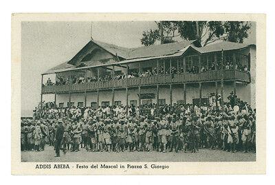 ADDIS ABEBA FESTA DEL MASCAL PIAZZA S. GIORGIO ETIOPIA AFRICA ORIENTALE COLONIE