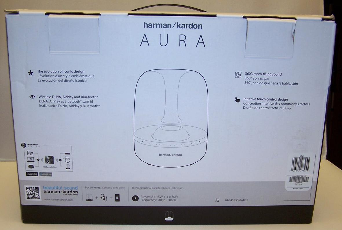 best harman kardon aura wireless home speaker system. Black Bedroom Furniture Sets. Home Design Ideas