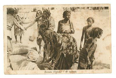BARENTU ERITREA AL MERCATO AFRICA ORIENTALE COLONIE D'ITALIA INDIGENI ANNI '30