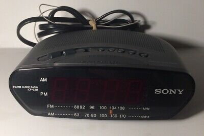 Sony ICF-C211 Dream Machine FM/AM Clock Radio-Alarm Clock Black Very Clean.