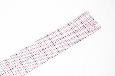 C-Thru 8ths Graph Beveled Transparent Rulers 2 in. x 18 in. no. b-85,USA SALE