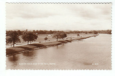 North Inch And River Tay Perth 1950 Real Photograph Published 1962 Valentines