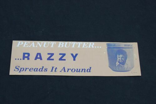 RAZZY BAILEY BUMPER STICKER,  PEANUT BUTTER, VINTAGE, MINT,COUNTRY MUSIC ( *_~ )