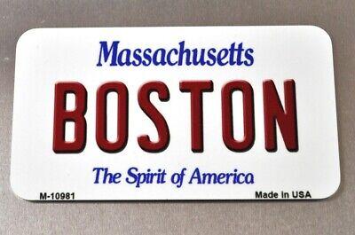 USA Boston Massachusetts Kühlschrankmagnet Magnet License Plate Style