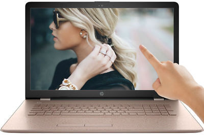 HP 17.3 HD+ TouchScreen 3.60GHz DualCore 4GB 1TB DVD+RW WebCam Windows 10 Laptop