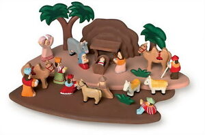 NATIVITY-PLAY-CHRISTMAS-STORY-HAND-CARVED-COLOURFUL-WOODEN-SET