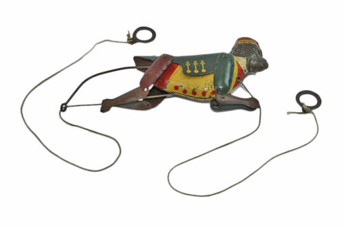 Vintage Antique c1920 Ferdinand Strauss Tin Litho TRIXO Climbing Monkey Toy
