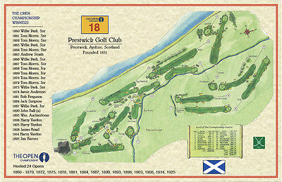 Prestwick - 1851 - Old Tom Morris Vintage Golf Course Maps print