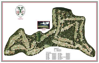 f47b7a4436a Yeamans Hall Club - 1925- Seth Raynor - a Vintage Golf Course Maps print
