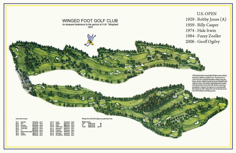 a56754f6fa0b1 Winged Foot Golf Club - 1923 A.W. Tillinghast - a ...