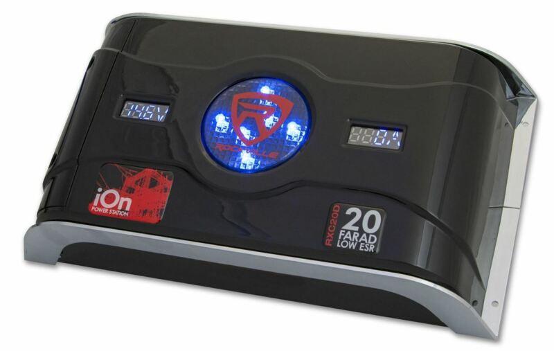 Rockville RXC20D 20 Farad Hybrid Ion Car Capacitor Voltage & Amperage Meter