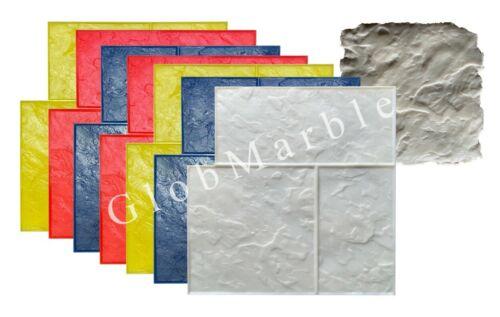 SM 3005 8Pc Ashlar Slate Concrete Stamps Set. Slate Stone Concrete Stamping Mats