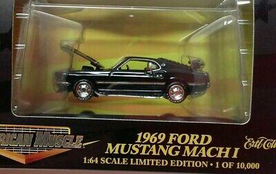 New 1:58 Scale 1968 Mustang Cobra 428CJ Diecast Racing Champions Black Ford NIB