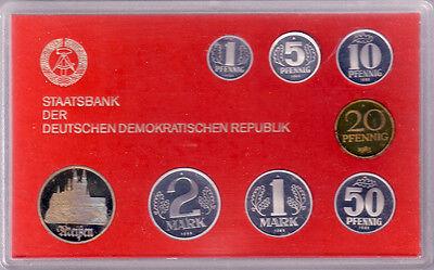 1983 - DDR Kursmünzensatz, polierte Platte