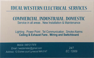 IDEAL WESTERN ELECTRICAL SERVICES Lynwood Canning Area Preview
