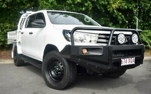 2017 Toyota Hilux GUN126R SR Double Cab White 6 Speed Sports Automatic Utility Mackay Mackay City Preview