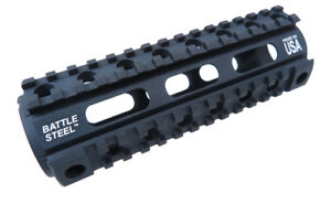 Battle Steel Carbine Length Quad Rail