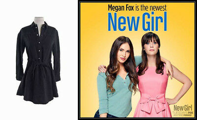 New Girl - Megan Fox/Reagan Sexy Black All Saints Tv Worn Dress COA and Tag