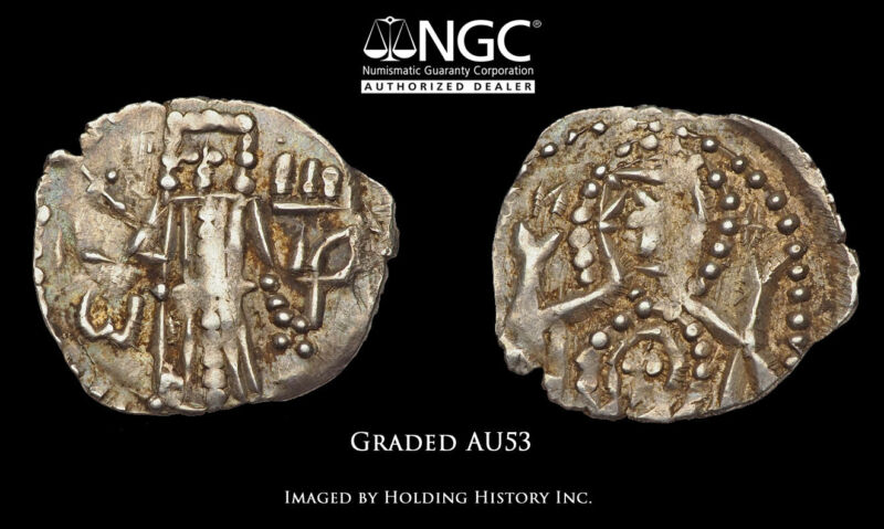 BULGARIA. Ivan Sisman, 1371-95, Silver 1/2 Gros, NGC AU53