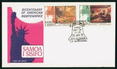 Mayfairstamps Samoa I Sisifo FDC 1976 Declaration Indep Boston Massacre First Da