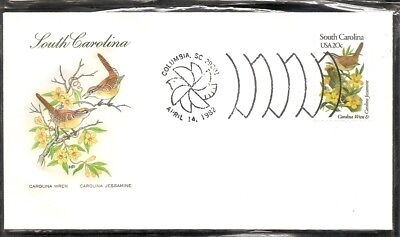 US SC # 1992 State Birds And Flowers ( South Carolina ) FDC .HF Cachet . 2