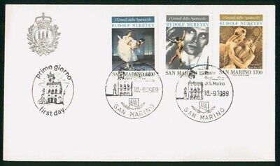 Mayfairstamps San Marino FDC 1989 Ballet Combo First Day Cover wwo_50225