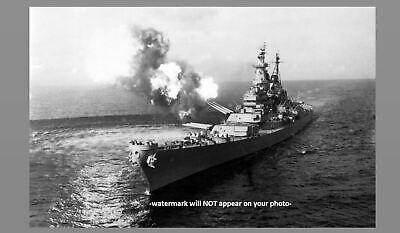 Korean War USS Missouri Bombards Chong Jin PHOTO US Navy Battleship