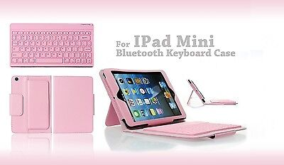 Pink Leather Case W/removable Wireless Bluetooth Keyboard...