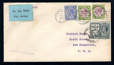 British Honduras - 1929 KGV Airmail Cover to USA
