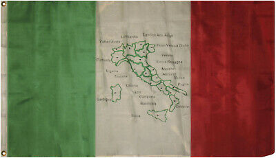 3x5 Italy Map Flag 3'x5' Banner Grommets
