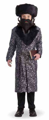 Jewish Rabbi Halloween Costume Coat Child Boys Religious Master Silver Black - Rabbi Halloween Costume