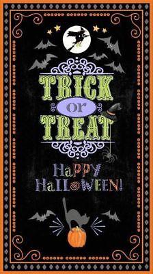 Here's for the Boos  Halloween Cotton Fabric Panel Wilmington     BFab ](Wilmington Halloween)