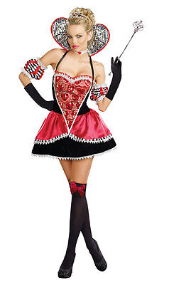Alice in Wonderland Queen of Hearts Adult Women Costume