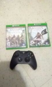 Xbox one controller and two xbox one gamea for sale $80