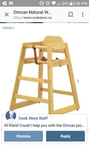 Restaurant style high chair