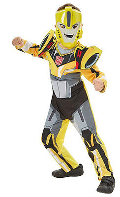 Transformers Bumble Bee Kinderkostüm NEU - Jungen Karneval Fasching Verkleidung (Jungen Bumblebee Transformer Kostüm)