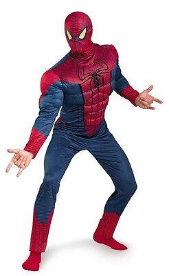 Amazing Spider-Man Movie Superhero Muscle Fancy Dress Up Halloween Adult Costume