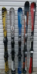 Used skis, snow blades, snowboard and boots for sale or trade.