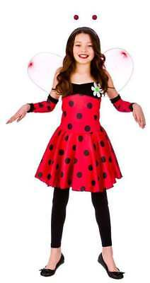 Lovely Lady Bug Kostüme (GIRLS RED LOVELY LADYBUG/LADYBIRD FANCY DRESS COSTUME)