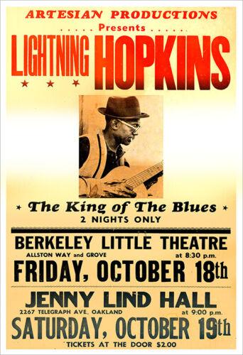 Lightning Hopkins concert poster print