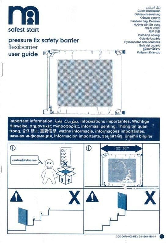 Mothercare pressure fix safety barrier
