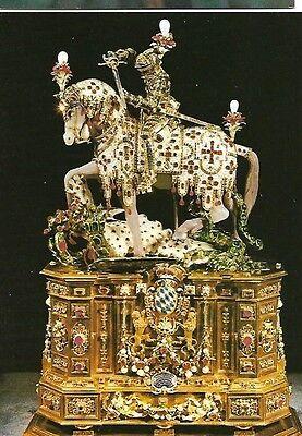 """POSTCARD: SAINT GEORGE STATUETTE Le """"CHEVALIER"""" Saint Georges Munchen 1586-1597"""