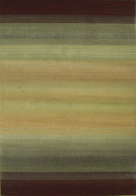 2x10 Runner Sphinx Stripes Brown Modern 594X Area Rug - Appr