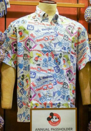 Walt Disney World Parks 50th Anniversary Reyn Spooner Camp Passholder Shirt XL