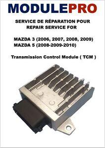 RÉPARATION DE (TCM) POUR MAZDA 3 2006-2009 ET MAZDA 5 2008-2010