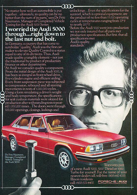 1981 Audi 5000 Sedan Classic Advertisement Ad P63