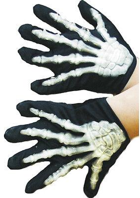 Skelett Handschuhe mit Knochen für Kinder NEU - - Skelett Handschuhe Für Kinder
