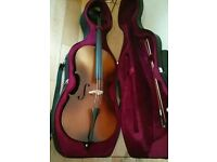 4/4 Size Cello with Case, Antique Fade (barely used)